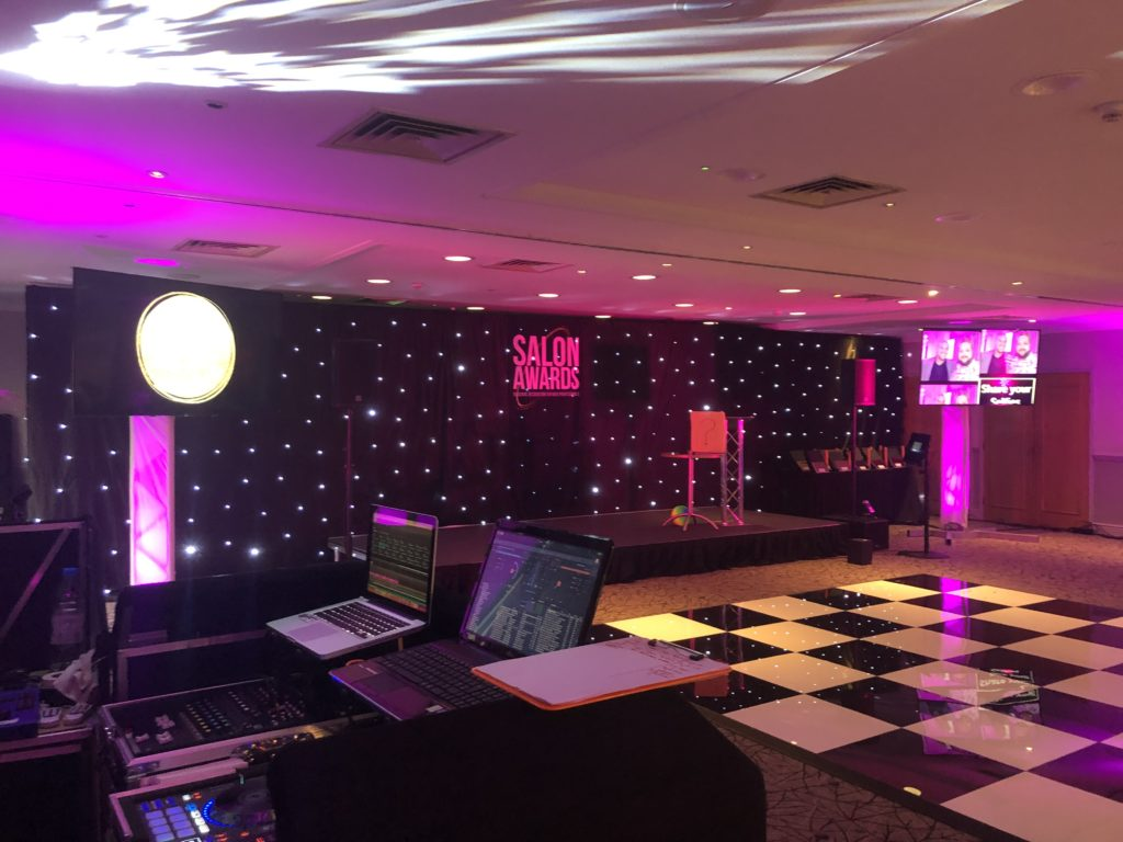 Event Production setup for Salon Awards 2019 at Hilton Hotel, Cobham, Surrey