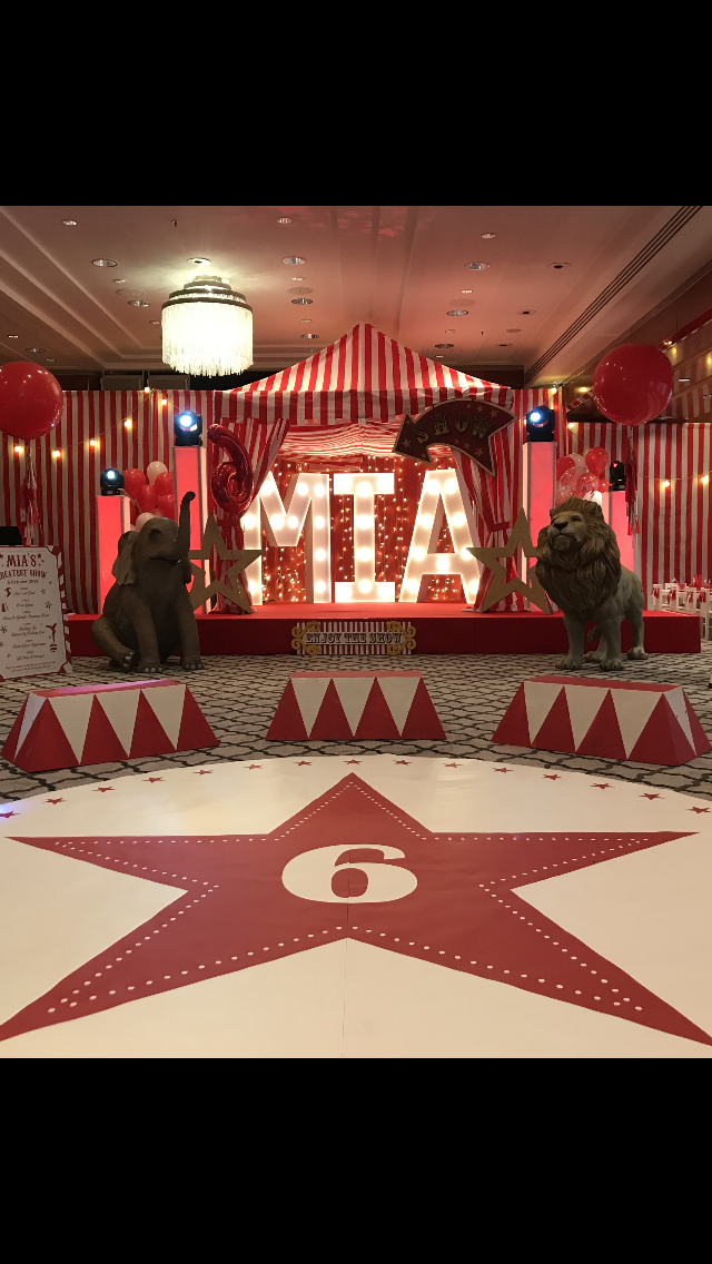 Circus Theme with LED Letters